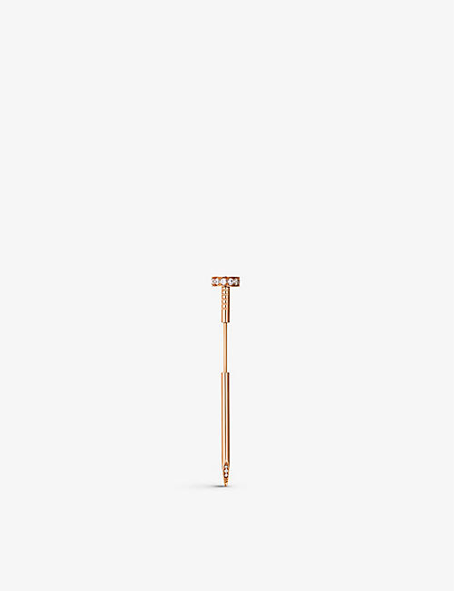 CARTIER: Juste Un Clou 18ct rose-gold and diamond tie pin