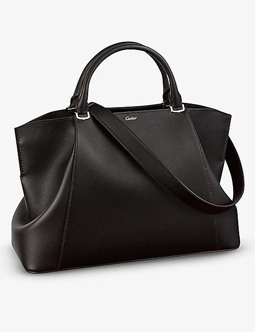 CARTIER: C de Cartier medium leather tote bag
