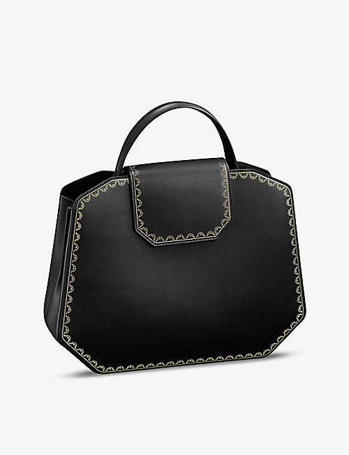 CARTIER: Guirlande de Cartier medium leather shoulder bag