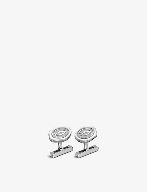 CARTIER: Wax Seal palladium-finish sterling silver cufflinks