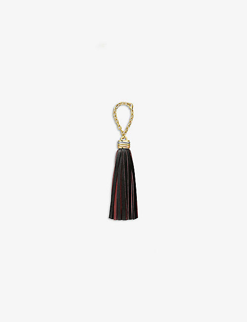 CARTIER: Trinity tassel leather key ring