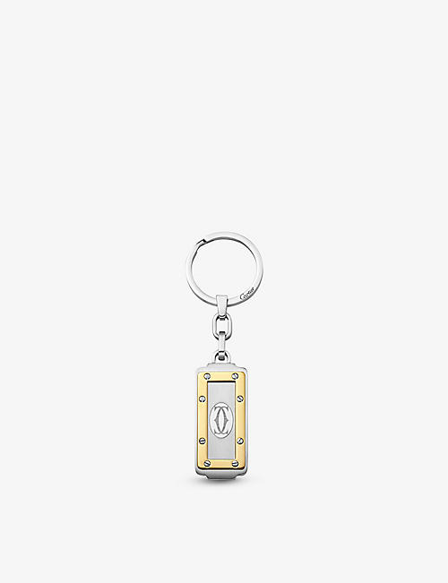 CARTIER: Santos de Cartier stainless steel key ring