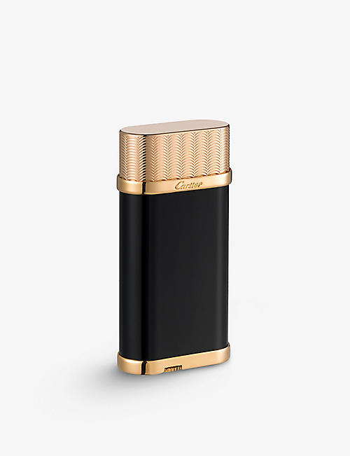 CARTIER: Oval guilloché décor lighter