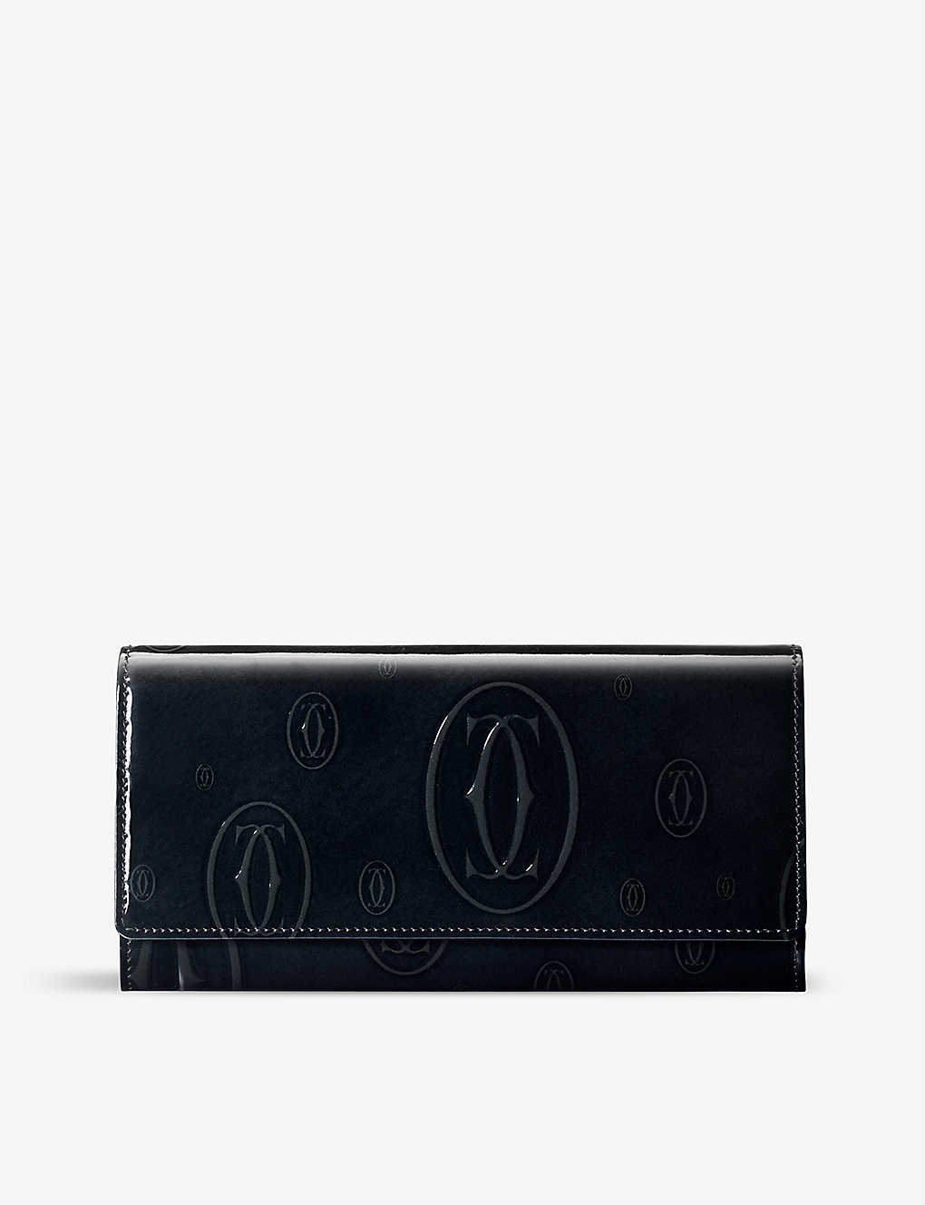 CARTIER: Must de Cartier calfskin patina-finish international wallet