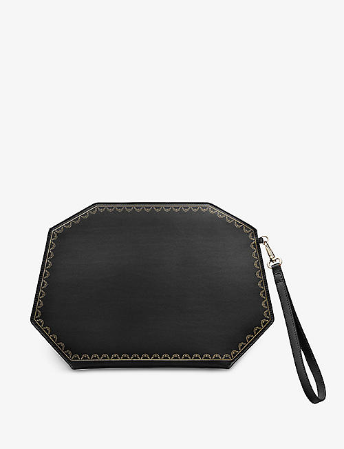CARTIER: Guirlande de Cartier medium leather clutch bag
