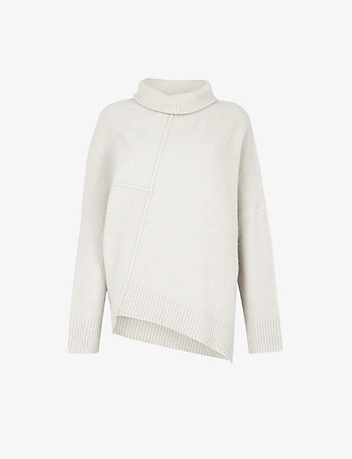 ALLSAINTS: Lock roll-neck wool-blend jumper