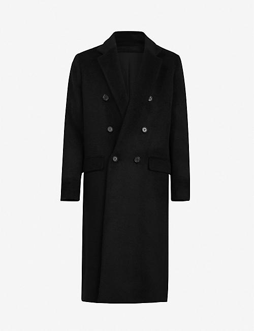 ALLSAINTS: Campo double-breasted wool-blend coat