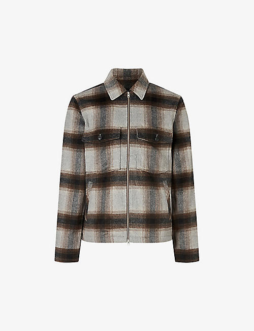 ALLSAINTS: Vonroe checked woven overshirt