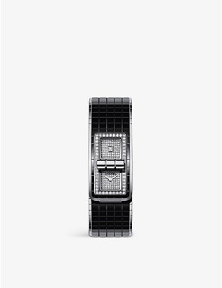 CHANEL: H6027 Code Coco steel, ceramic and diamond quartz watch