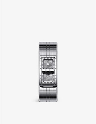 CHANEL: H5812 Code Coco steel and diamond quartz watch