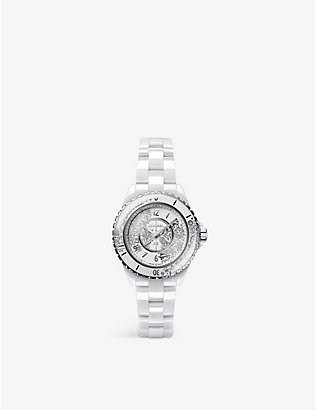 CHANEL: H6477 J12.20 diamond, ceramic and steel quartz watch