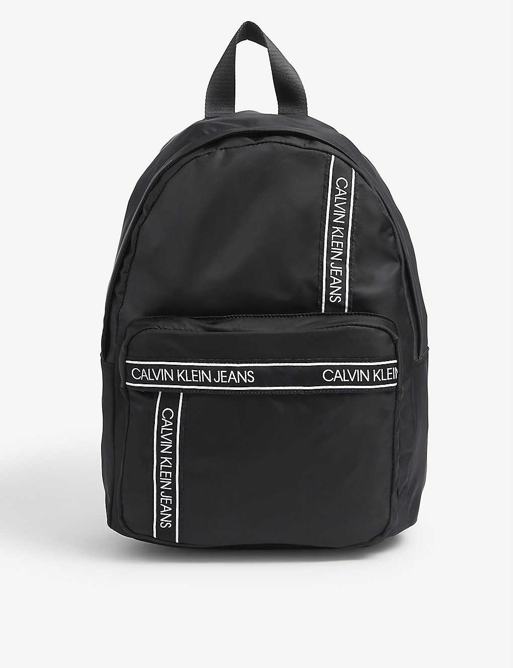 CALVIN KLEIN JEANS: Kids tape-logo nylon backpack