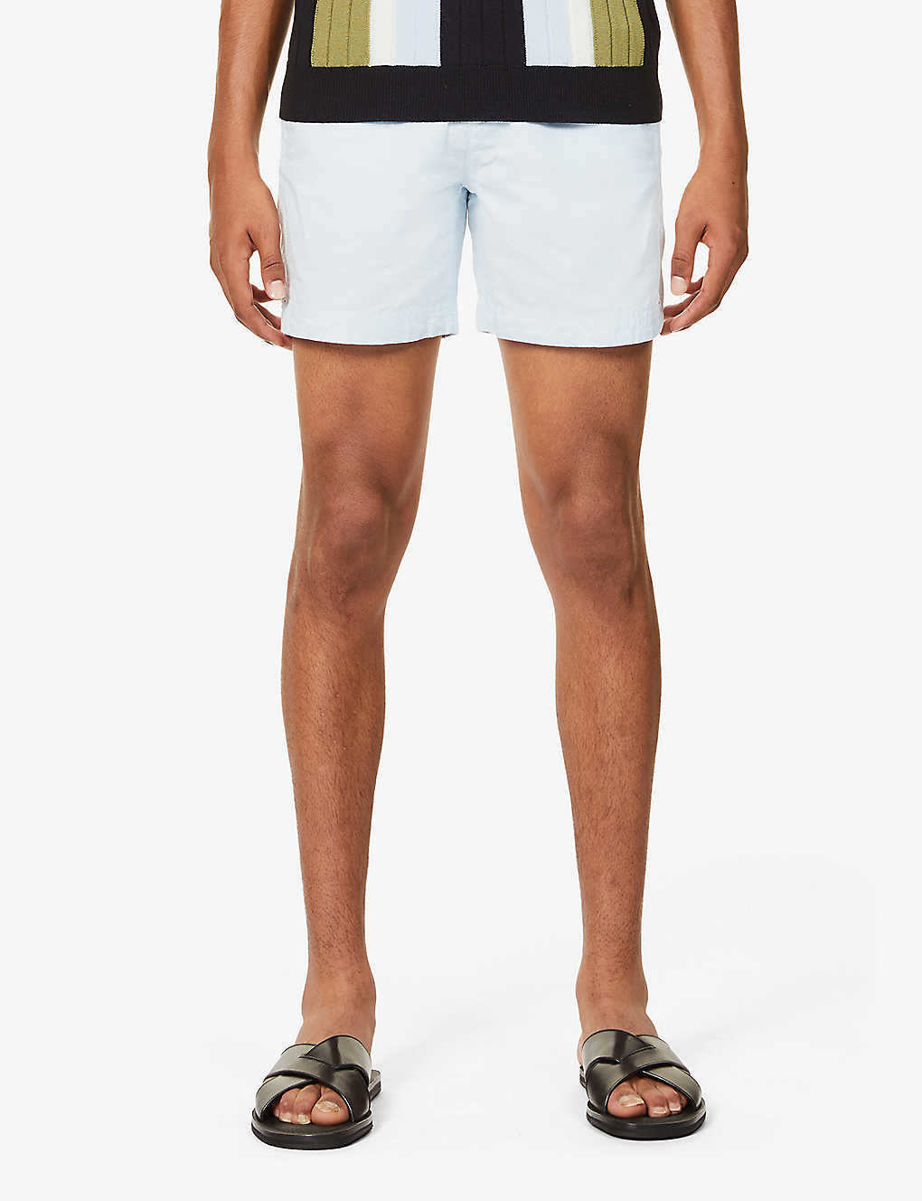 ORLEBAR BROWN: Bulldog mid-rise cotton and linen-blend shorts