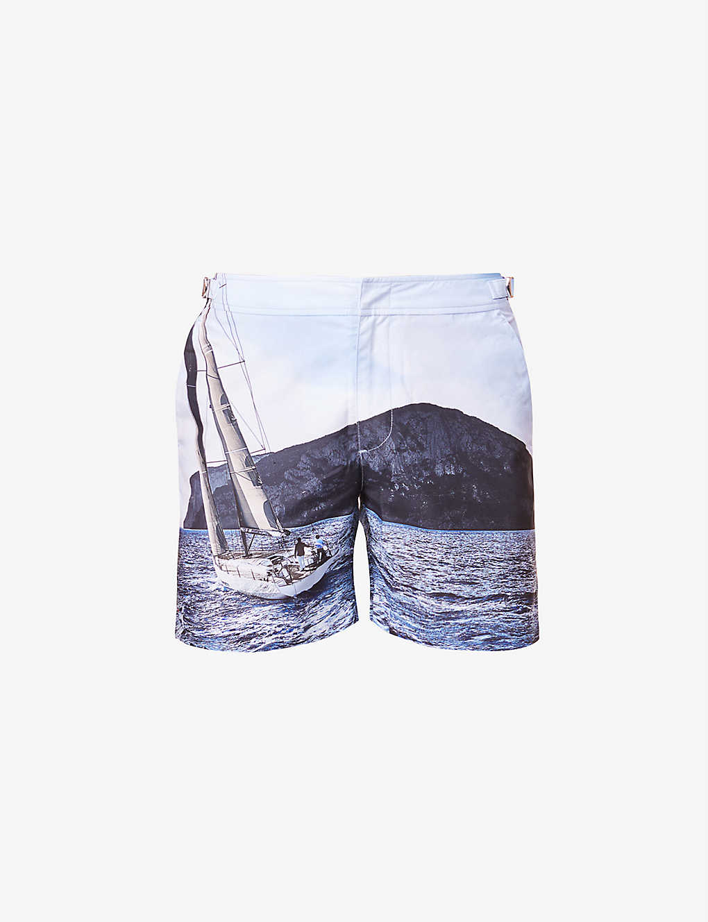 ORLEBAR BROWN: Orlebar Brown x IWC graphic-print swims shorts