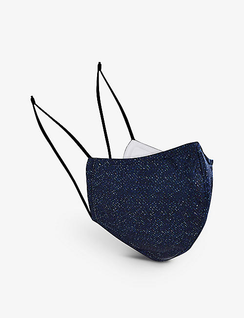 REISS: Denim adjustable face covering