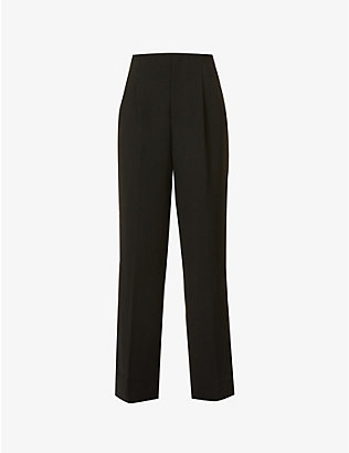 RITO: Wide-leg high-rise stretch-wool trousers