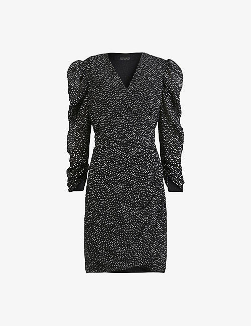 ALLSAINTS: Lucia polka-dot mini dress