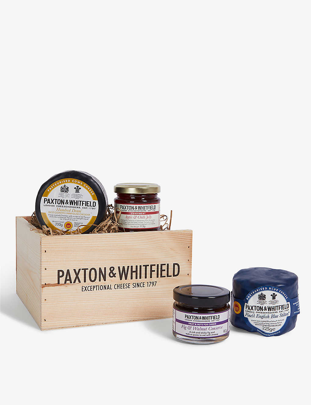 PAXTON & WHITFIELD: Cheddar & Stilton small gift set