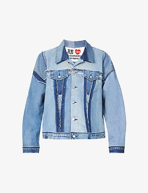 READYMADE: Embroidered panel denim jacket