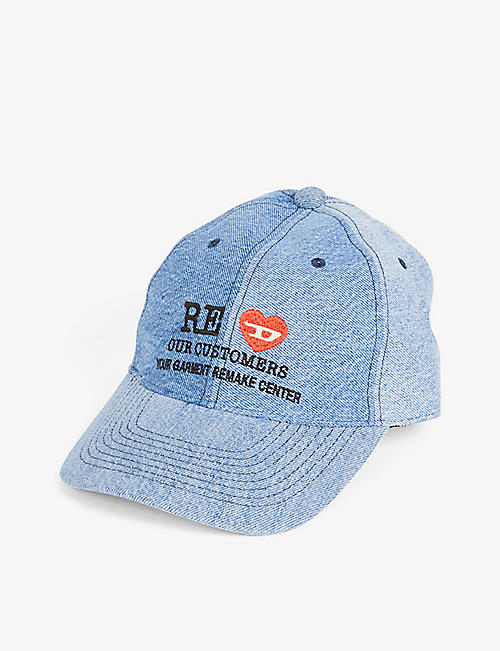 READYMADE: Logo-embroidered denim cap