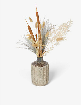 YOUR LONDON FLORIST: Exclusive Dried Lake dried bouquet and ceramic vase