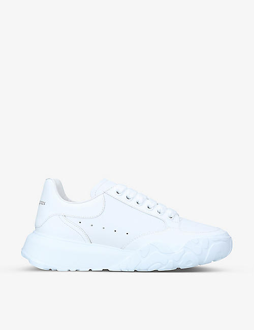 ALEXANDER MCQUEEN: Women's oversized leather trainers
