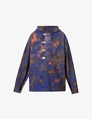 FENTY: Tie-dye pattern hooded shell jacket