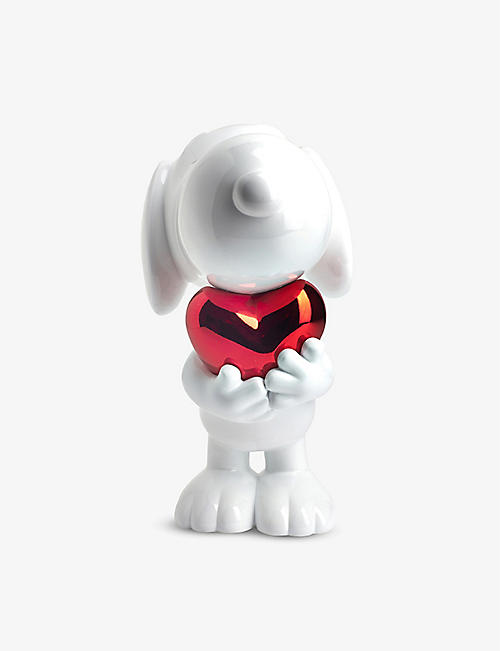 LEBLON DELIENNE: Limited Edition Snoopy Heart life-size chrome figurine 95cm
