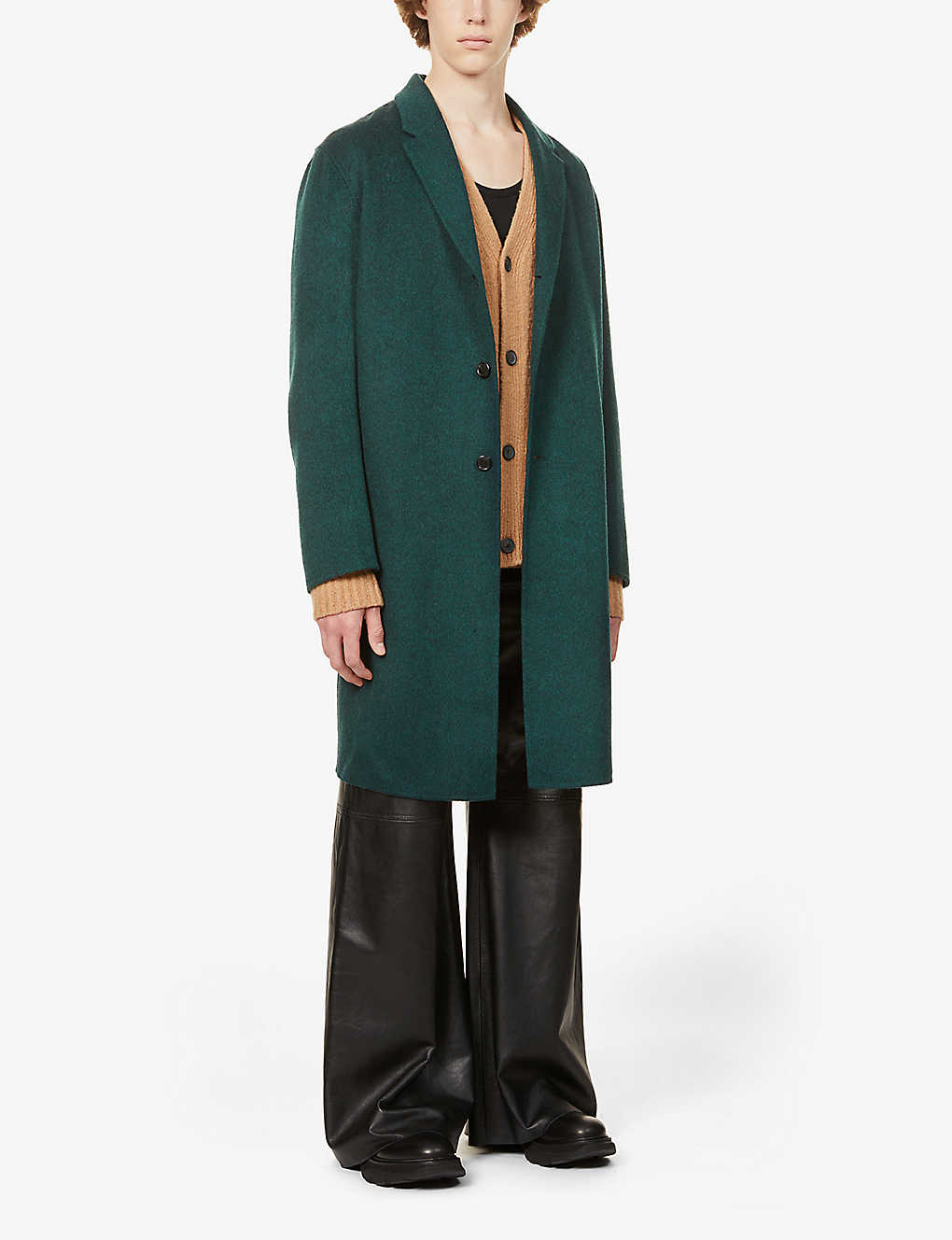 ACNE STUDIOS: Chad notch-lapels wool coat