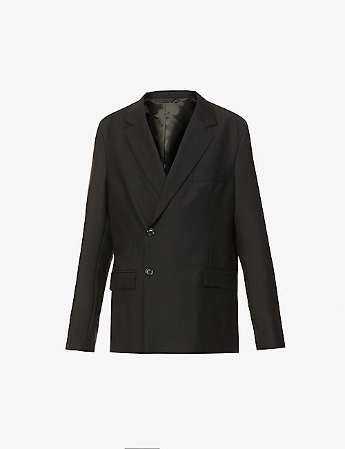 ACNE STUDIOS: Double-breasted wool and mohair-blend jacket