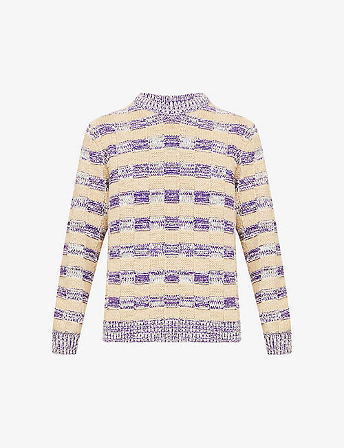ACNE STUDIOS: Kai striped wool-blend jumper
