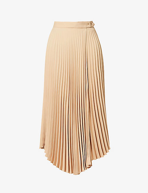 CHINTI AND PARKER: Pleated crepe wrap skirt