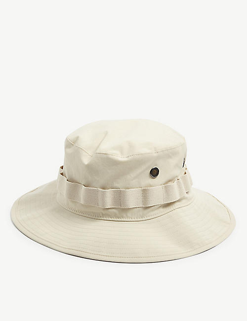 ACNE STUDIOS: Logo-embroidered woven bucket hat