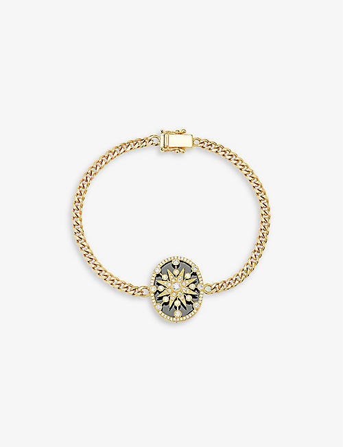 THE ALKEMISTRY: Cage star18ct yellow-gold and diamond bracelet