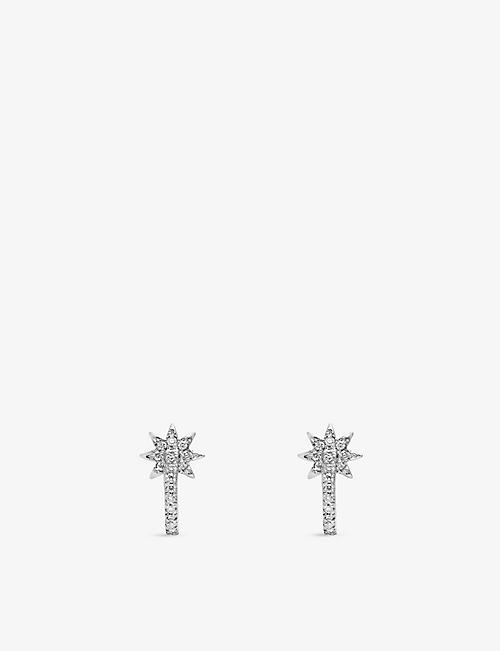THE ALKEMISTRY: Colette Galaxia 18ct white-gold and diamond earrings