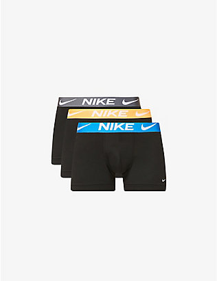 NIKE: Pack of three Everyday stretch-cotton jersey micro trunks