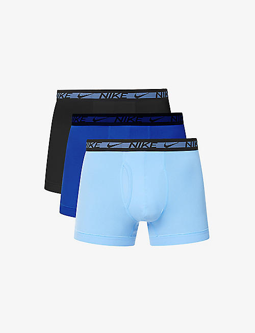 NIKE: Pack of three Flex stretch-woven micro trunks