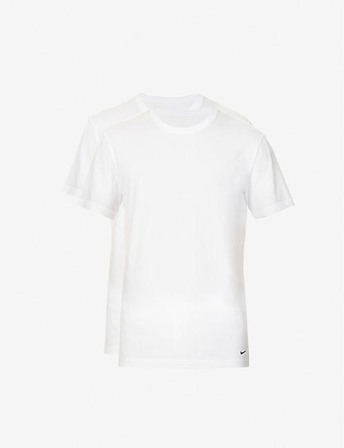 NIKE: Pack of two crewneck stretch-cotton jersey T-shirt