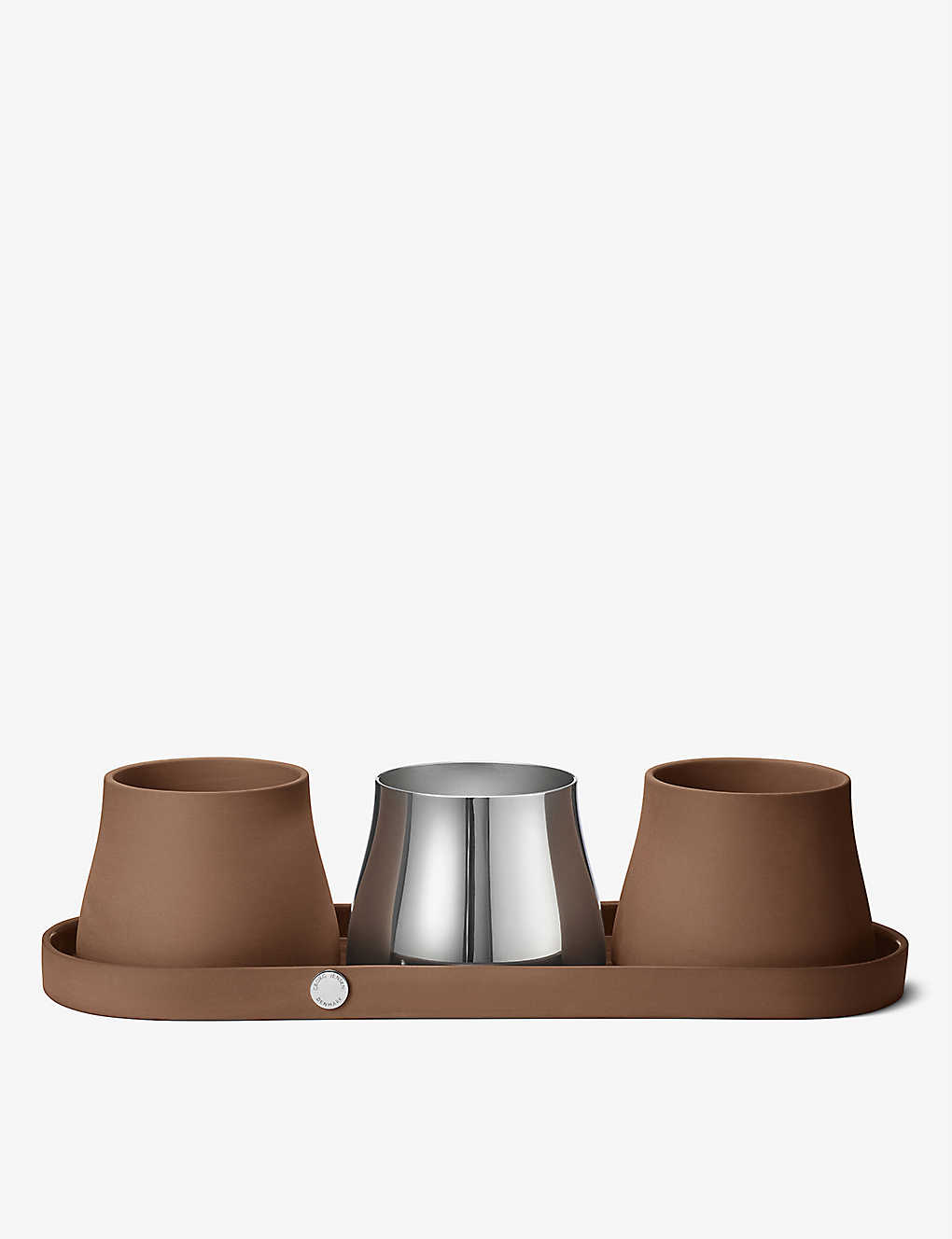 GEORG JENSEN: Terra terracotta pots set of three