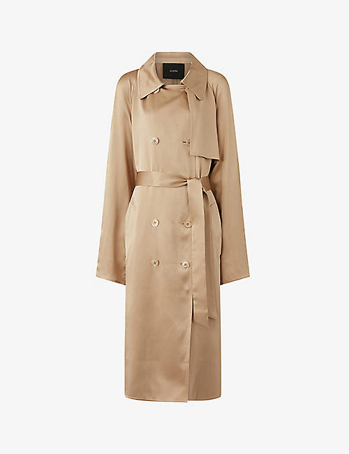 JOSEPH: Cepio silk double-breasted coat