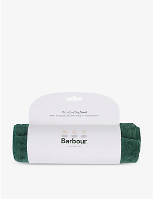 BARBOUR: Microfibre dog towel 100cm x 50cm