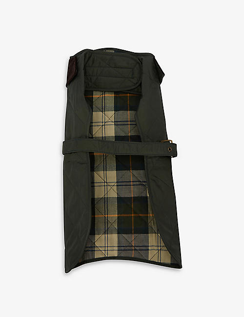 BARBOUR: Quilted waterproof dog coat