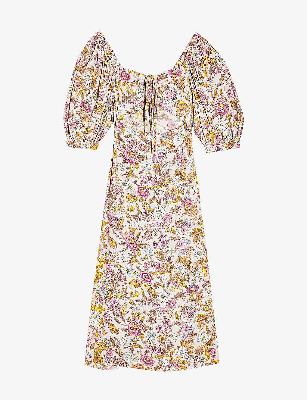 TOPSHOP: Floral cut-out crepe midi dress