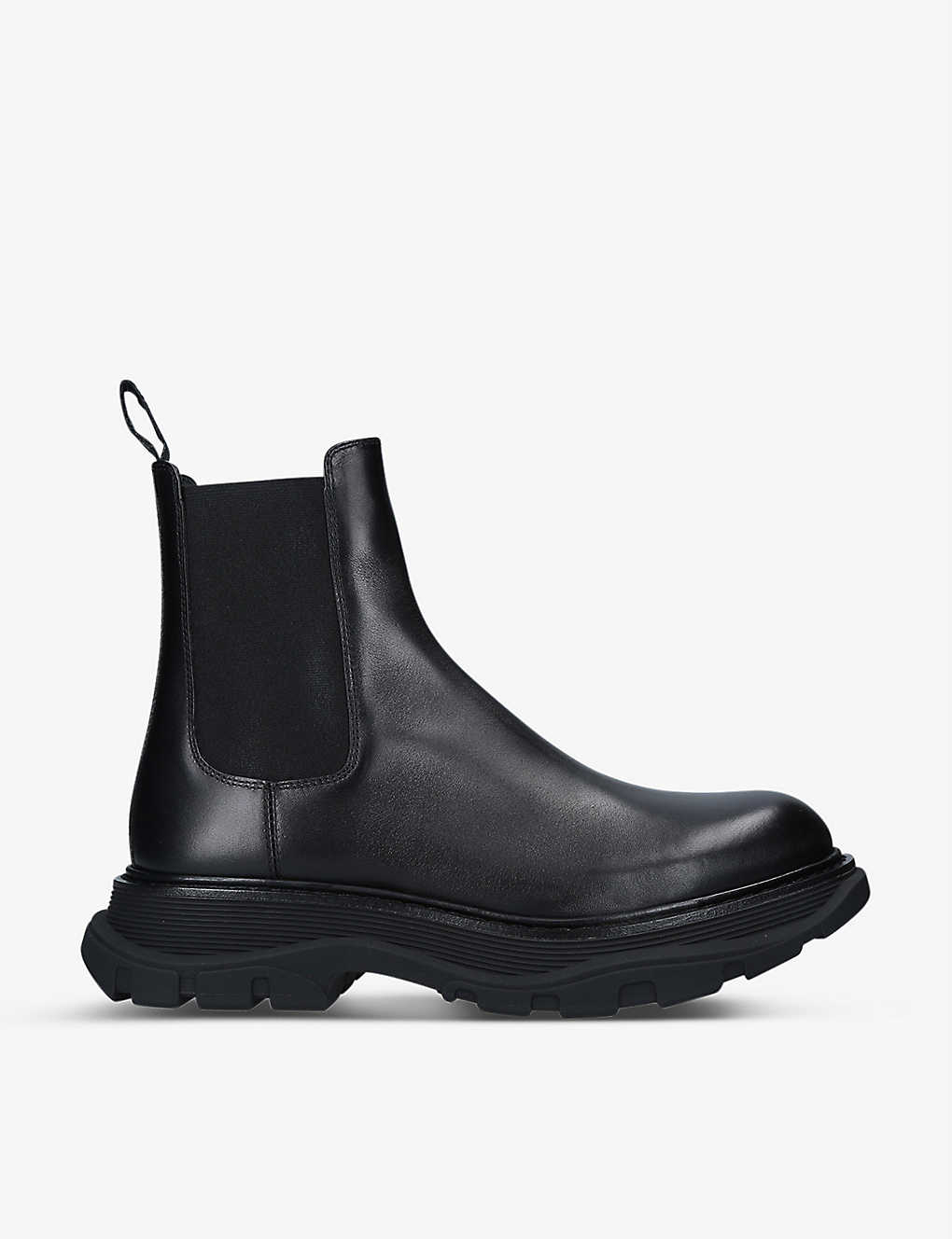 ALEXANDER MCQUEEN: Tread leather Chelsea boots