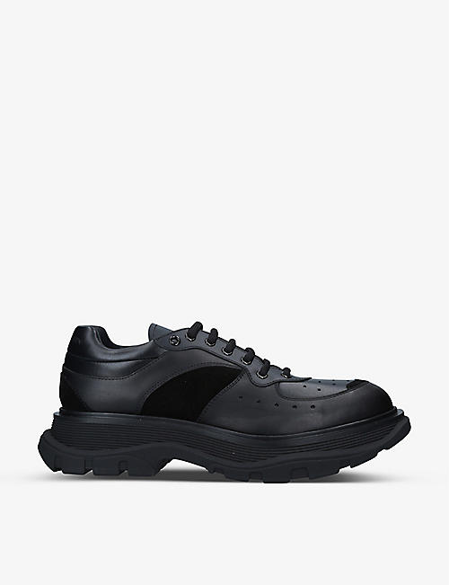 ALEXANDER MCQUEEN: Men's Tread leather trainers