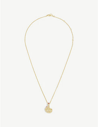ANISSA KERMICHE: French for Goodnight 18ct yellow-gold necklace