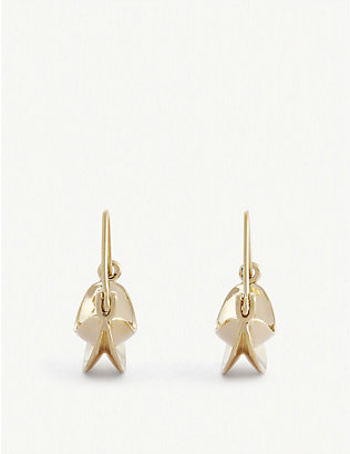 ANISSA KERMICHE: Paniers Dorés mini 18ct yellow gold-plated hoop earrings