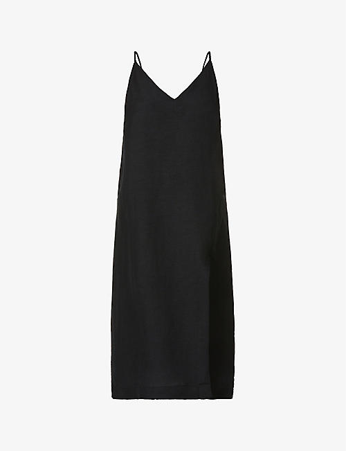 SEAFOLLY: Linen-blend slip dress