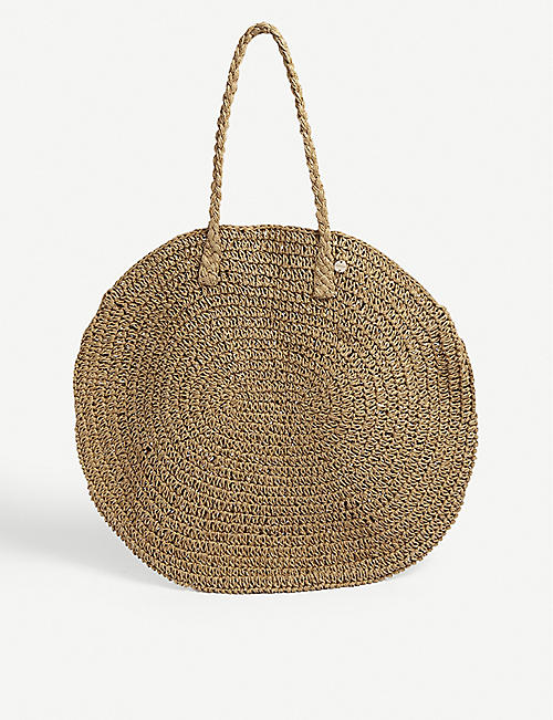 SEAFOLLY: Woven beach bag