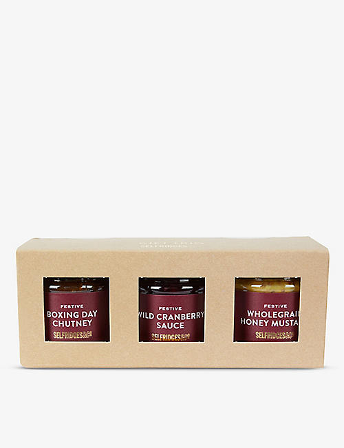 SELFRIDGES SELECTION: Festive Condiment Trio 300g